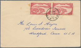 05098 Brunei - Stempel: 1938, 6 C Scarlet, Horizontal Pair As Multiple Franking On Cover With Single Circl - Brunei (1984-...)