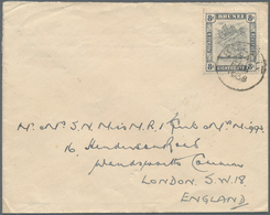 05099 Brunei - Stempel: 1938, 8 C Grey-black, Single Franking On Cover With Single Circle Dater BELAIT, 24 - Brunei (1984-...)
