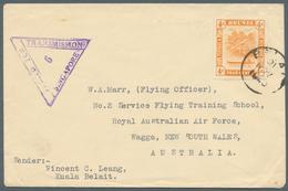 05102 Brunei - Stempel: BELAIT (type D5): 1940 (21.11.), 4c Orange 'bush Huts And Canoe' Single Use On Pri - Brunei (1984-...)