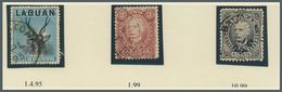 05104 Brunei - Stempel: BROOKETON (type D1): 1895-1900, Nice Group Of Nine Single Stamps From Sarawak Or L - Brunei (1984-...)