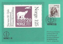"""Stamp Exhibition """"Norwex 80""""  Swedish Stamp. A-269 - Stamps (pictures)"""