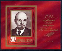 SOVIET UNION 1979 Lenin Birth Anniversary Block MNH / **.  Michel Block 138 - Blocks & Sheetlets & Panes