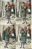CATES FANTAISIES - BONNE ANNEE - Collection DEDE Lot De 5 - Naissance