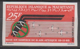 Mauritanie 1966  PA 62  Mise En Service DC 8 Air Afrique  Imperf ND MNH - Airplanes