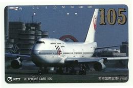 Giappone - Tessera Telefonica Da 105 Units T440 - NTT, - Avions