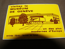 AUTOCOLLANT MUSEUM GENEVE SUISSE - Andere Verzamelingen
