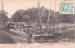 """CPA - ANGOLA - Alto Dande - Fazenda """"Ouijanda"""" - Porto De Embarque - 1907 - Angola"""