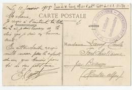 Marcophilie - Cachet 74 Division D'infanterie Convoi Administratif 1915 Lunéville 54 Pour Briançon 05 - Marcophilie (Lettres)