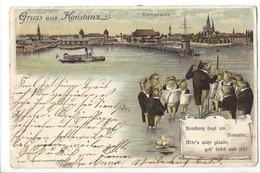 19720 - Gruss Aus Konstanz Litho  (attention Pli Coin) - Konstanz