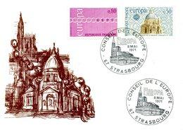 EUROPA CEPT 1971 CARTE MAXIMUM  FRANCE YVERT Nº 1676/1677 - 1971