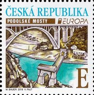 Czech Republic - 2018 - Europa CEPT - Bridges - Podoli Bridge - Mint Stamp - Tsjechië