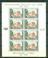België/Belgique 1962  Bl 33** (1239) Duizendjarig Bestaan Van De Stad Ieper - Blocks & Kleinbögen 1962-....