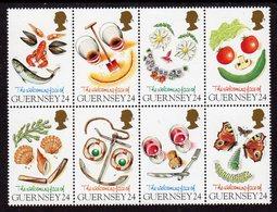 GUERNSEY - 1995 GREETINGS SET (8V) IN BLOCK EX SG MS671 FINE MNH ** - Guernsey