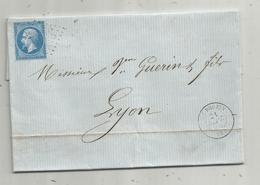 Lettre ,1864 , LE POUZIN , ARDECHE - 1849-1876: Periodo Classico