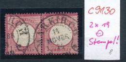 D.-Reich Nr. 2x19   - Stempel-  (c9130  ) Siehe Scan - Germany