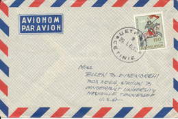 Yugoslavia Air Mail Cover Sent To USA Cetinje 29-1-1965 - Poste Aérienne