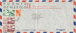 Mexico Air Mail Cover Sent To Switzerland 14-2-1969 - Mexico