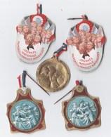 Lot De 4 épinglettes Et 1 Médaille Métal Léger Journée Des Familles Nombreuses - Army & War