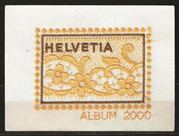 Vignette Brodée Collection Annuelle 2000 - Schweiz