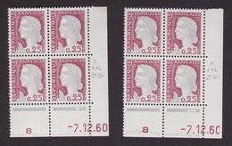 Coins Datés N° 1263 Marianne De DECARIS - Paire De Galvano - TB** - 1960-1969