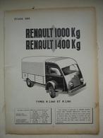 ETUDE DES Camions RENAULT 1000 KG Et 1400 KG Types R 2.060 Et R2.061 Article Issue Revue Technique D'époque - Camions