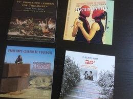 Printemps Lesbien De Toulouse : 5 Catalogues  (15 X 15 Cm) éditions 2014/15/16/17 & 18 (Bagdam, Espace Lesbien) - Non Classés
