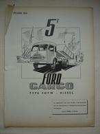 ETUDE DES CAMIONS FORD 5 Tonnes CARGO Type FOYW DIESEL  Article Issue Revue Technique D'époque - Camions