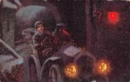 Illustration - Voiture Ancienne Automobile Nuit - Wien Vienne - Autres Illustrateurs