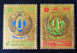 EXPO UNIVERSELLE D'OSAKA 1972 - NEUFS ** - PAPIER GAUFRE OR - YT PA 64/65 - MI 43/44 - Unused Stamps