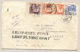 Nederlands Indië - 1940 - Crash Cover KNILM-flight PK-AFO To Australia - RECOVERED FROM LOST FLYING BOAT - Netherlands Indies