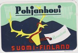Vieux Papier : étiquette  Hotel : Pohjanhoui  Suomi-Finlande, Finland  : Rovaniemi - Etiquettes D'hotels