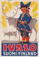 Vieux Papier : étiquette  Hotel :  Suomi-Finlande, Finland  : IVALO - Hotel Labels