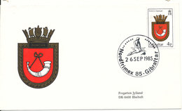 Gibraltar Cover 26-9-1985 Nordfrimex 85 Honors The Danish Frigate Jylland With Cachet - Gibraltar