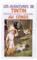 LOT 4 Télécartes Prépayées - Puzzle - Phonecard - TINTIN AU CONGO - Comics