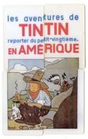LOT 4 Télécartes Prépayées - Puzzle - Phonecard - TINTIN EN AMERIQUE - Comics