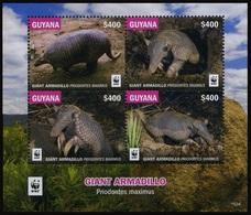 2016 Guyana, Giant Armadillo, WWF,  Souvenir Sheet, MNH - W.W.F.