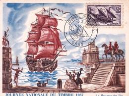 Carte Postale Algérie Oran 1957 Service Maritime Postal Le Messager Des Îles - Algérie (1924-1962)