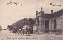 """ROUTE KAZVIN. TEHERAN STATION """"KEREDJ"""". PERSE (IRAN). PANORAMA VINTAGE.-RARE-BLEUP - Iran"""