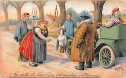 Illustration -  Voiture Ancienne Automobile Campagne - Illustrateur Thiele - Thiele, Arthur