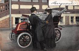 Illustration -  Voiture Ancienne Automobile Couple - Dion Bouton - Illustrateurs & Photographes
