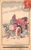 Illustration -  A La Recherche Du Contact - Voiture Ancienne Automobile Couple - Humour 1907 - Illustrateurs & Photographes