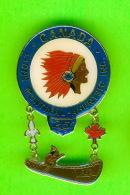 PIN'S - ÉPINGLETTES - ASSOCIATIONS DES CLUB LIONS - MONTREAL- AHUNTSIC INC  25e - CANOT 1957-1982 -  CHEF INDIEN - - Associations