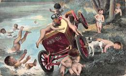 Illustration -  Voiture Ancienne Automobile Dans L'eau Enfants - Illustratoren & Fotografen