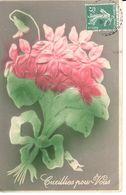 Carte Fantésie - Fleurs - Cueillies Pour Vous - Gauffrée - Fleurs