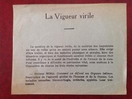 Vigueur Virile Docteur Mora Monin Labonne - Publicités