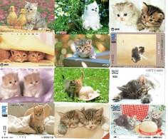 LOT 50 Télécartes - Chat - Chats - JAPON - Cats