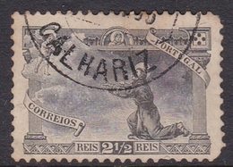 Portugal SG 327 1895 700th Anniversary Birth St Anthony, Two And Half Reis Black Short Perf, Used - 1892-1898 : D.Carlos I
