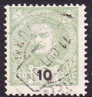 Portugal SG 344 1895 King Carlos Numerals, 10r Green, Used - 1892-1898 : D.Carlos I