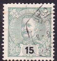 Portugal SG 345 1895 King Carlos Numerals, 15r Green, Used - 1892-1898 : D.Carlos I
