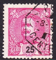 Portugal SG 349 1895 King Carlos Numerals, 25r Red, Used - 1892-1898 : D.Carlos I